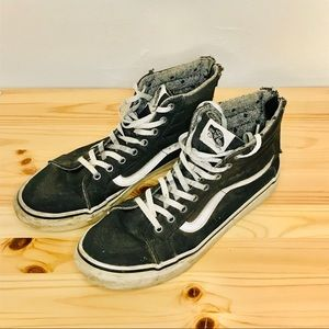 VINTAGE VANS High Tops with Zipper Backs